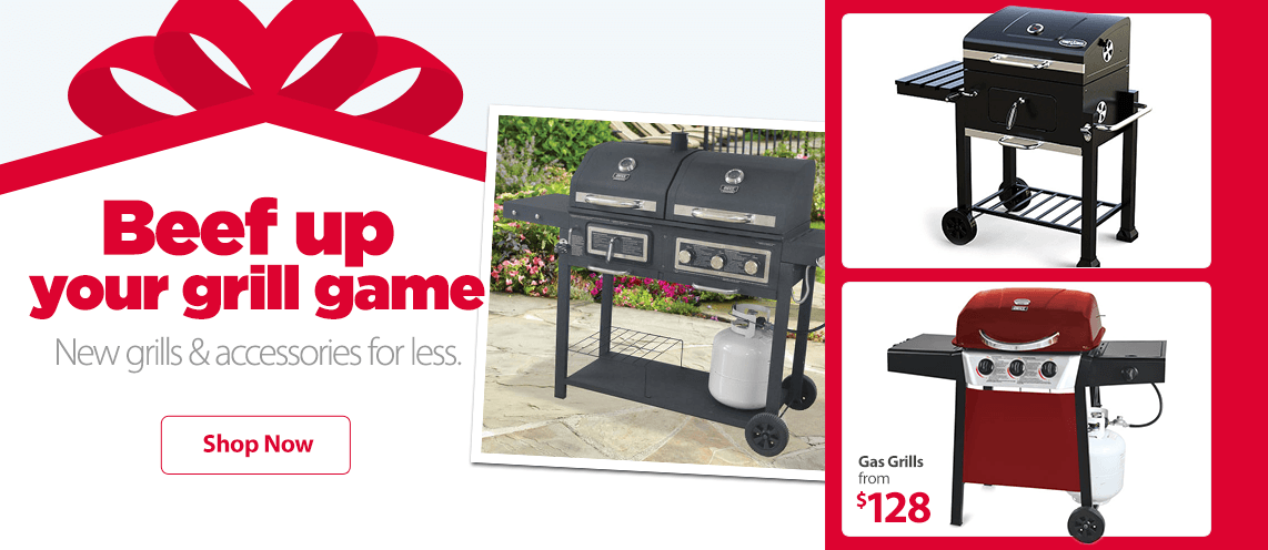 Beef up your grill game. New grills & accessories for less.