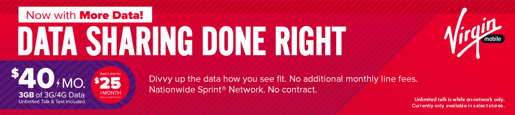 Shelf Banner - Virgin Mobile Data Done Right