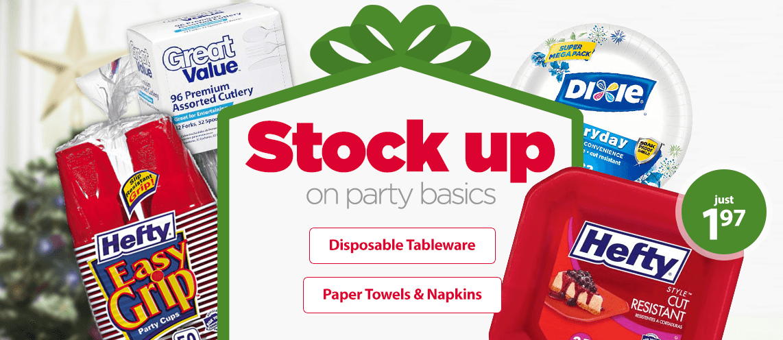 Stock up on party basics