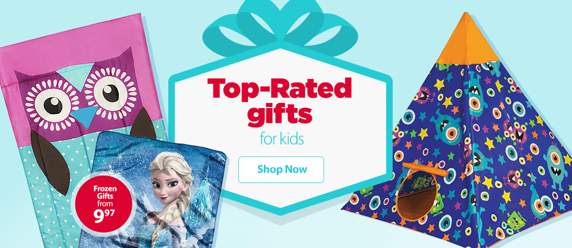 Top-rated gifts for kids.