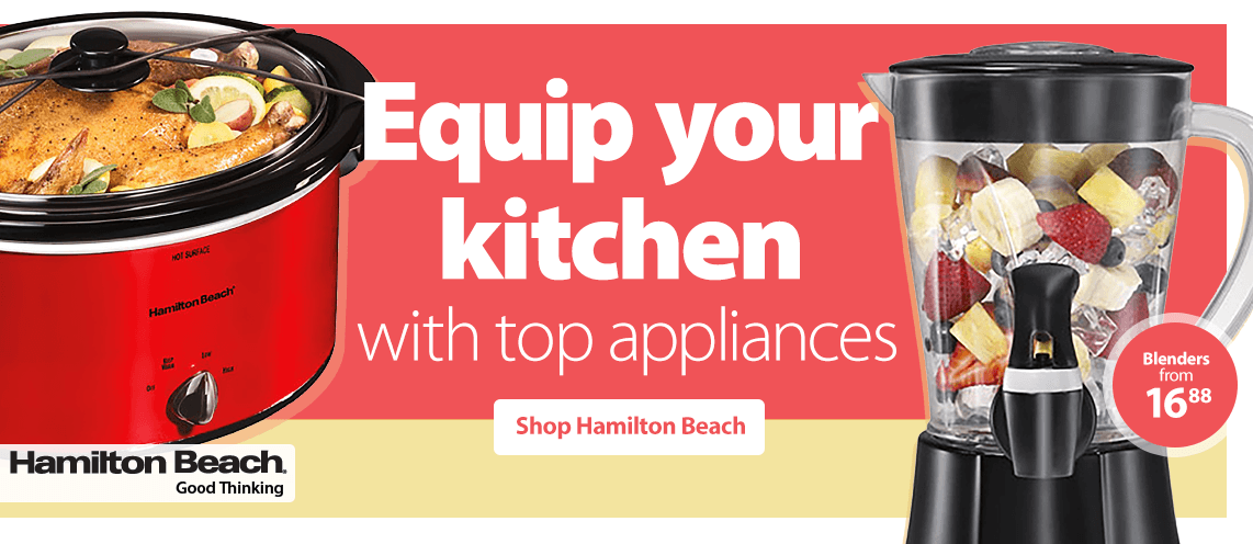 Equip your kitchen with top appliances.
