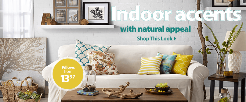 Indoor accents with natural appeal.