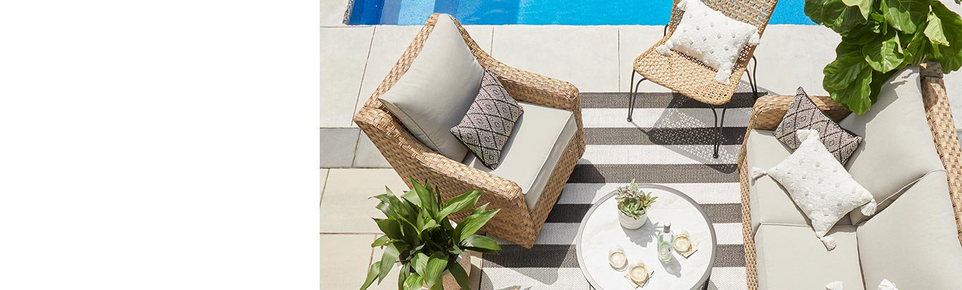 Discover new arrivals to freshen up your outdoor space in style.