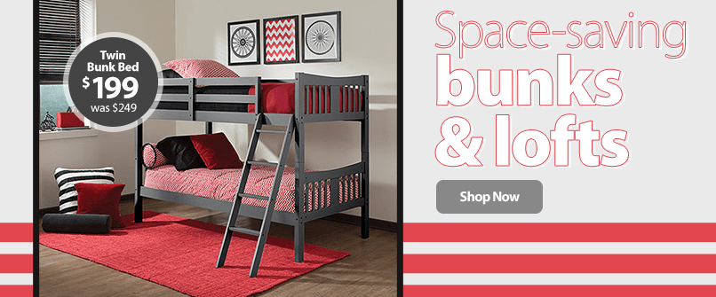 Space-saving bunks & lofts