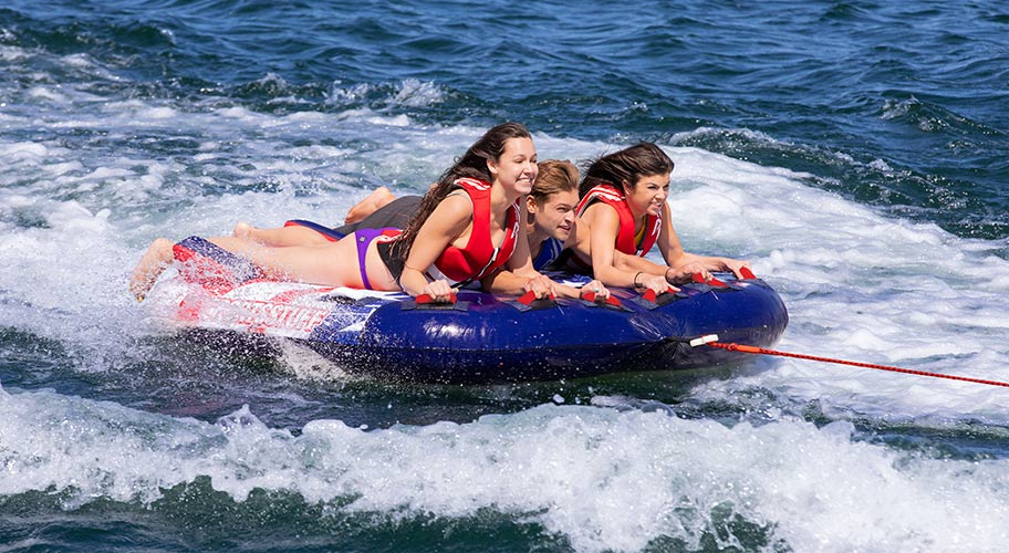 Spectacular savings. Hit the water with towable tubes, life vests, wakeboards and other water sports equipment from top brands like O'Brien, Airhead, Rave and more!