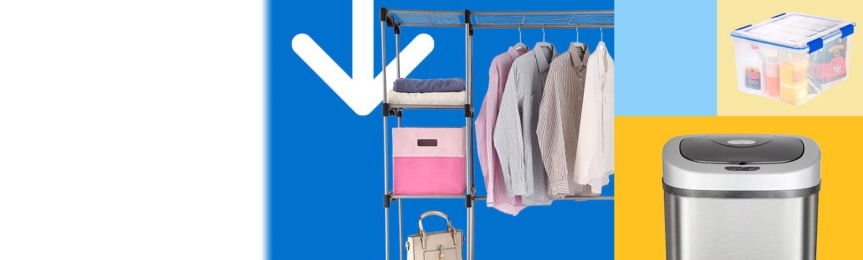 Savings spotlight. Save on storage. Celebrate spring with baskets, bins, closet organization, and more.