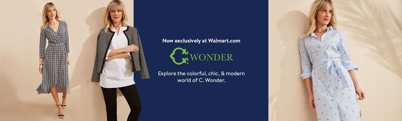 Now exclusively at Walmart.com. C. Wonder. Explore the colorful, chic, and modern world of C. Wonder.