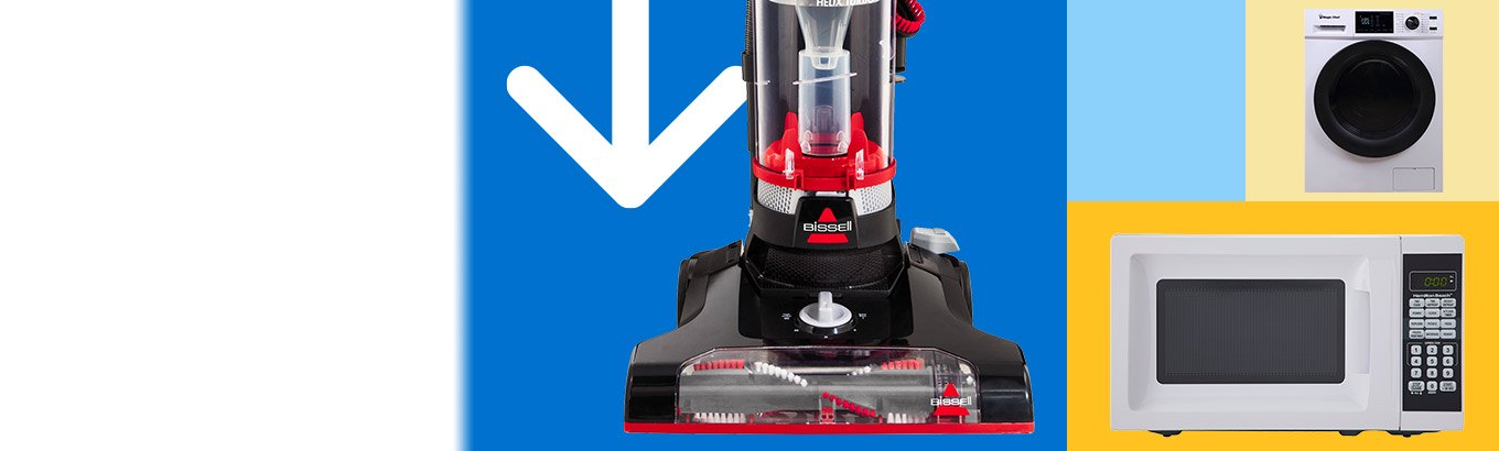 Savings spotlight. Save on appliances. Celebrate spring with vacuums, fridges, and kitchen appliances.