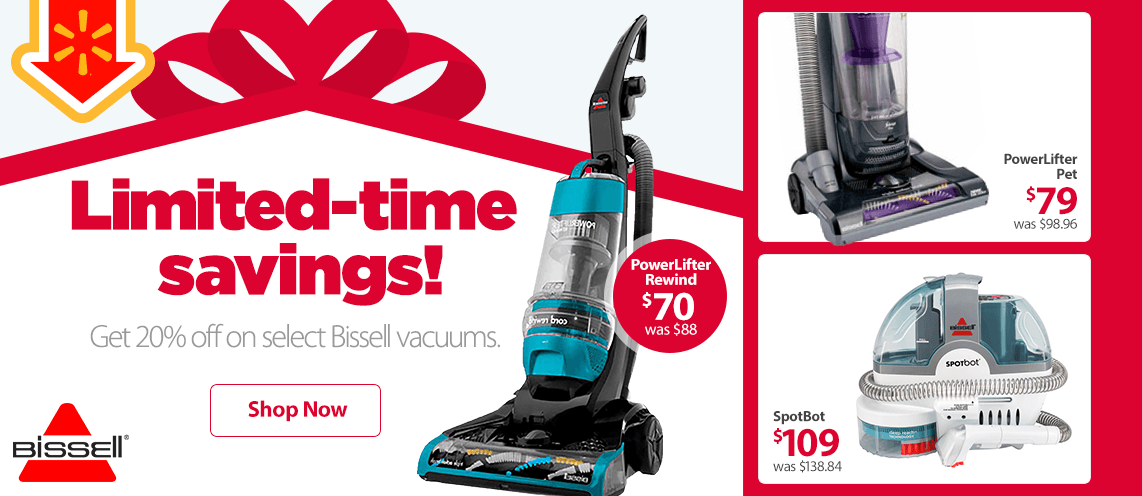 Limited-time savings! Get 20% off on select Bissel vacuums