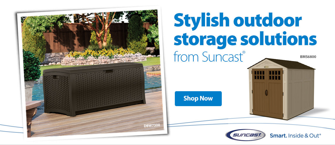 Stylish Outdoor Storage Solutions from Suncast