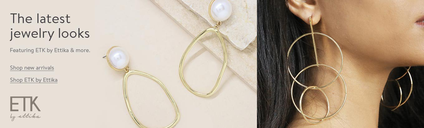 The latest jewelry looks. Featuring ETK by Ettika and more. Shop new arrivals. Shop ETK by Ettika.