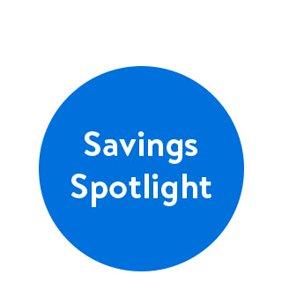Shop savings spotlight.
