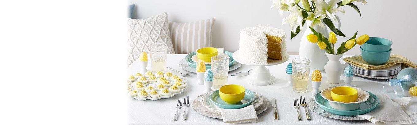 Kitchen and dining. Easter entertaining. Prep a delightful meal with dinnerware, bakeware, and more.