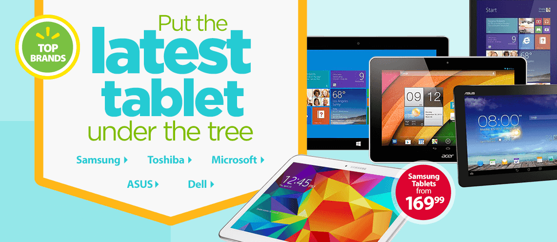 Put the latest tablet under the tree