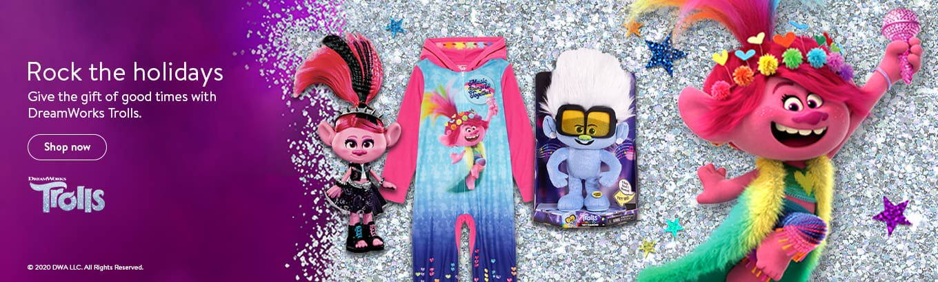 Rock the holidays. Give the gift of good times with DreamWorks Trolls. Shop now.