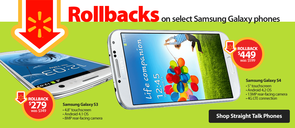 Samsung Galaxy Rollbacks
