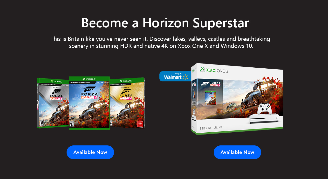 Forza Horizons 4 Available Now