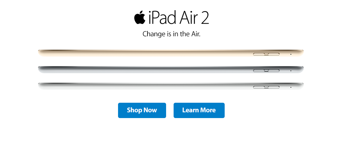iPad Air 2 - change is in the air