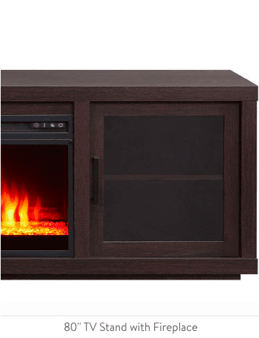 80-inch TV Stand with Fireplace