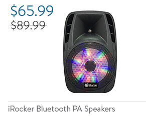 iRocker Bluetooth PA Speakers