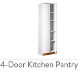 Orion 4-Door Kitchen Pantry