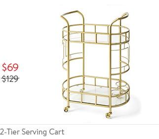 2-Tier Serving Cart