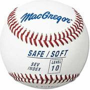 (12 Pack) MacGregor Safe/Soft Baseballs, Level 10, Ages 12+