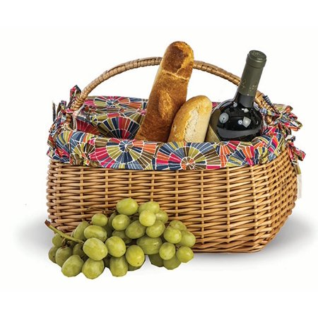 Picnic Plus Napa Picnic Basket For Wine and Cheese -
