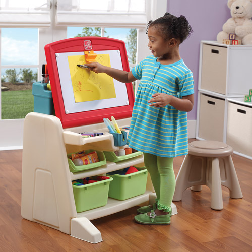 Attrayant Step2 Flip U0026 Doodle Easel Desk With Stool And Plenty Of Storage