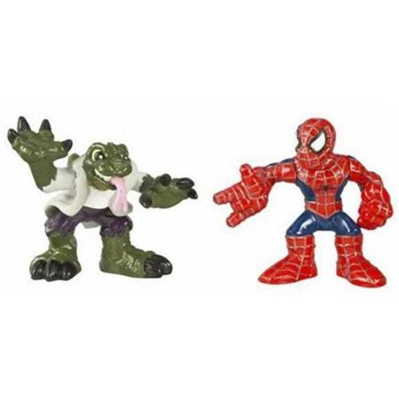 Spider-Man 3 Super Hero Squad Spider-Man vs. Lizard, Collection of world's greatest Super Heroes By Hasbro Ship from US - Spider Man Lizard