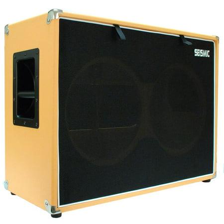 Seismic Audio EMPTY Orange Tolex 2x12