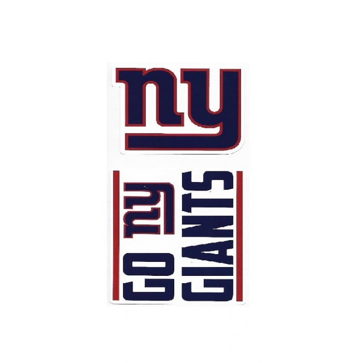 Football-NFL Sports Mem, Cards & Fan Shop NFL NEW YORK GIANTS  4 X 4 DIE-CUT DECAL OFFICIALLY LICENSED PRODUCT