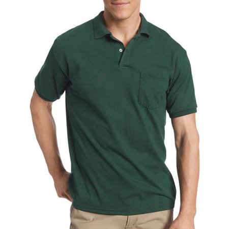 21fcbeccefa Hanes - Big Men's Comfortblend EcoSmart Jersey Polo with Pocket -  Walmart.com