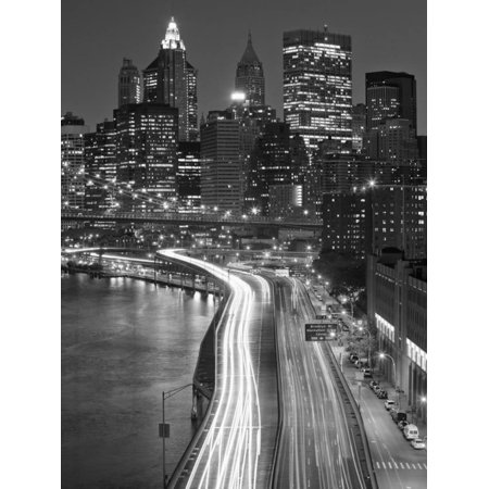 View of Parkway, East River with Lower Manhattan Skyline in Distance, Brooklyn, New York, Usa Print Wall Art By Paul (Accident On Hutchinson River Parkway 9 13 12)