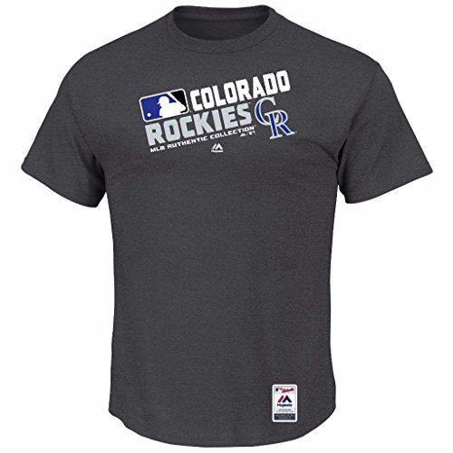 MLB Men's Authentic Collection Team Choice T-Shirt (Small, Colorado Rockies)