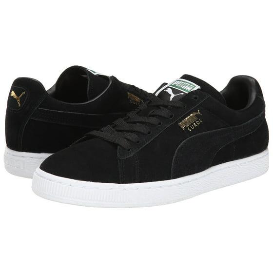 best service 24cd5 667a1 PUMA 352634-87 : Suede Classic Sneaker Black/Team Gold/White (BLACK/TEAM  GOLD/WHITE, 13 D(M) US)