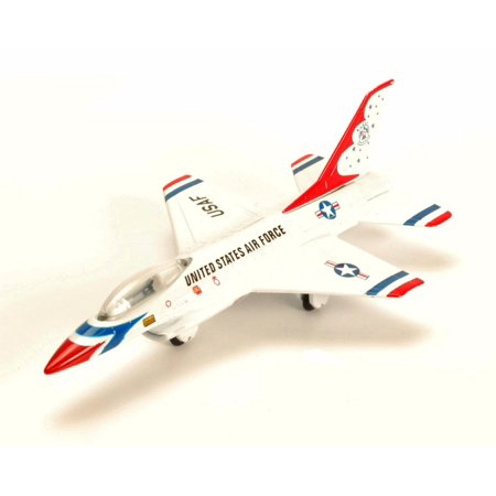 Lockheed Martin F-16 Flying Falcon, White - Motor Max 77000DT/A5 - Diecast Model Toy Car (Brand New but NO BOX)