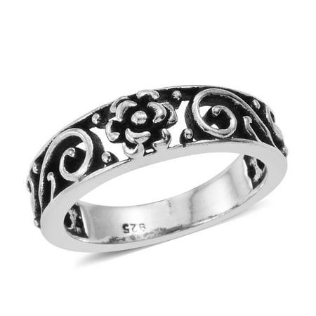 - 925 Sterling Silver Boho Handmade Statement Ring Vintage Tribal Jewelryfor Women Jewelry Gift