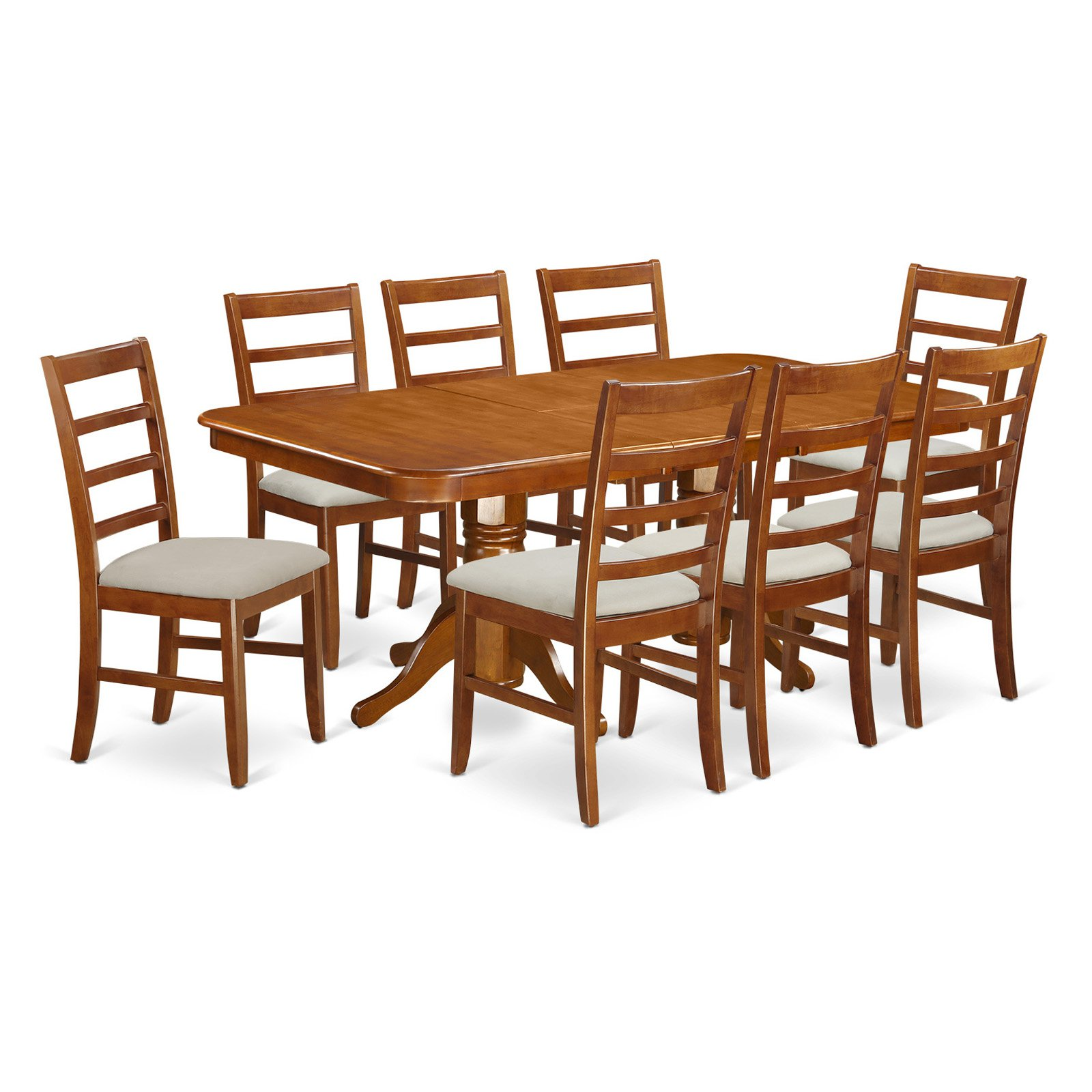 East West Furniture Napoleon 9 Piece Shaker Dining Table Set