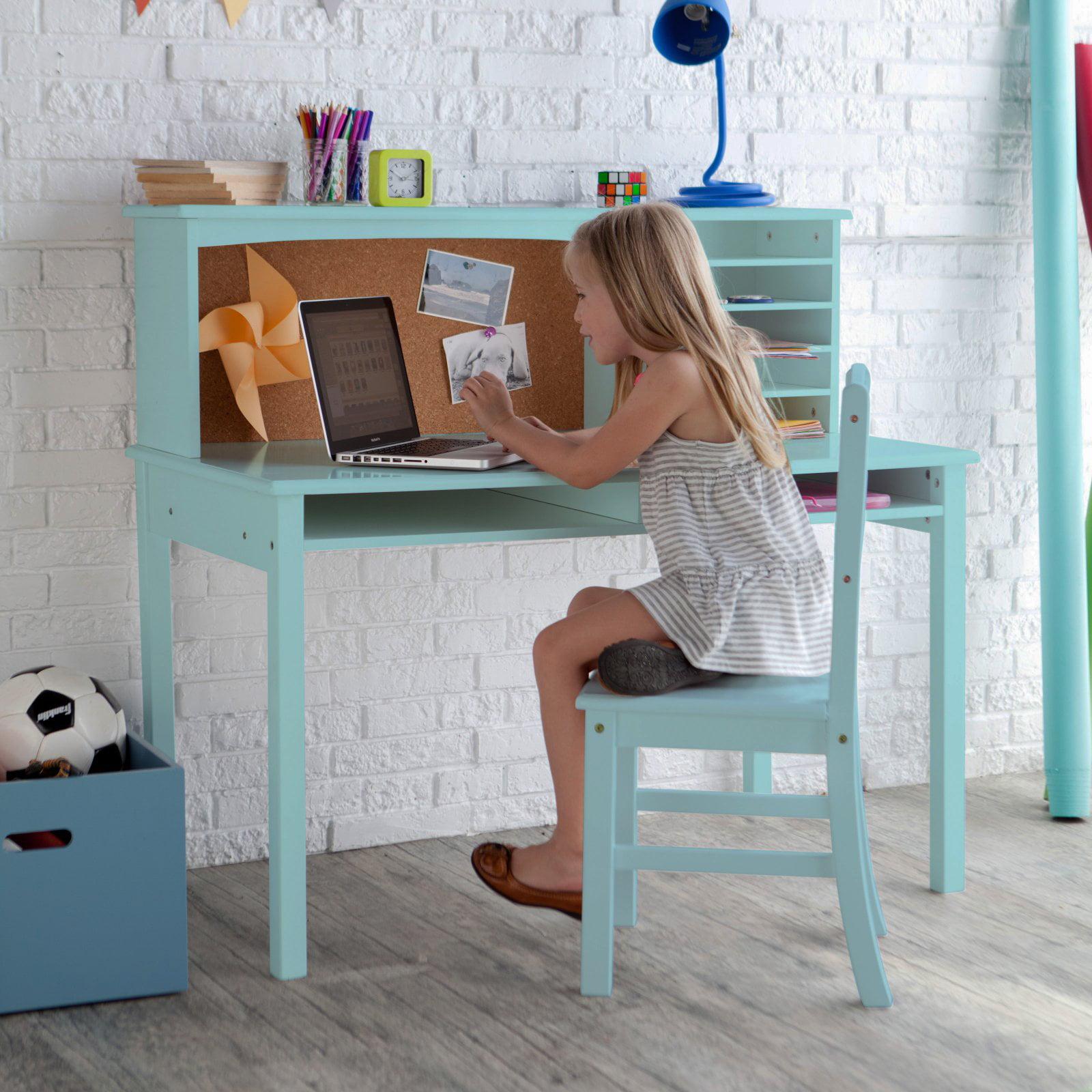 Guidecraft Media Desk & Chair Set - Teal