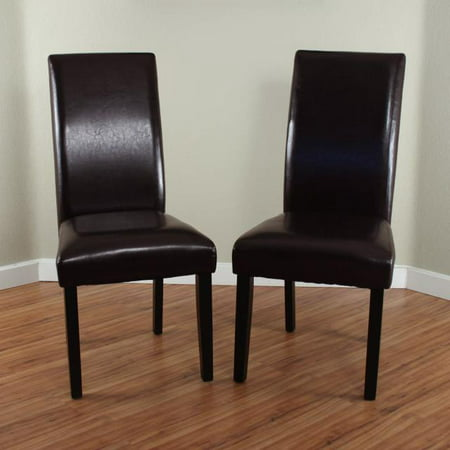 Villa Faux Leather Brown Dining Chairs (Set of 2) ()