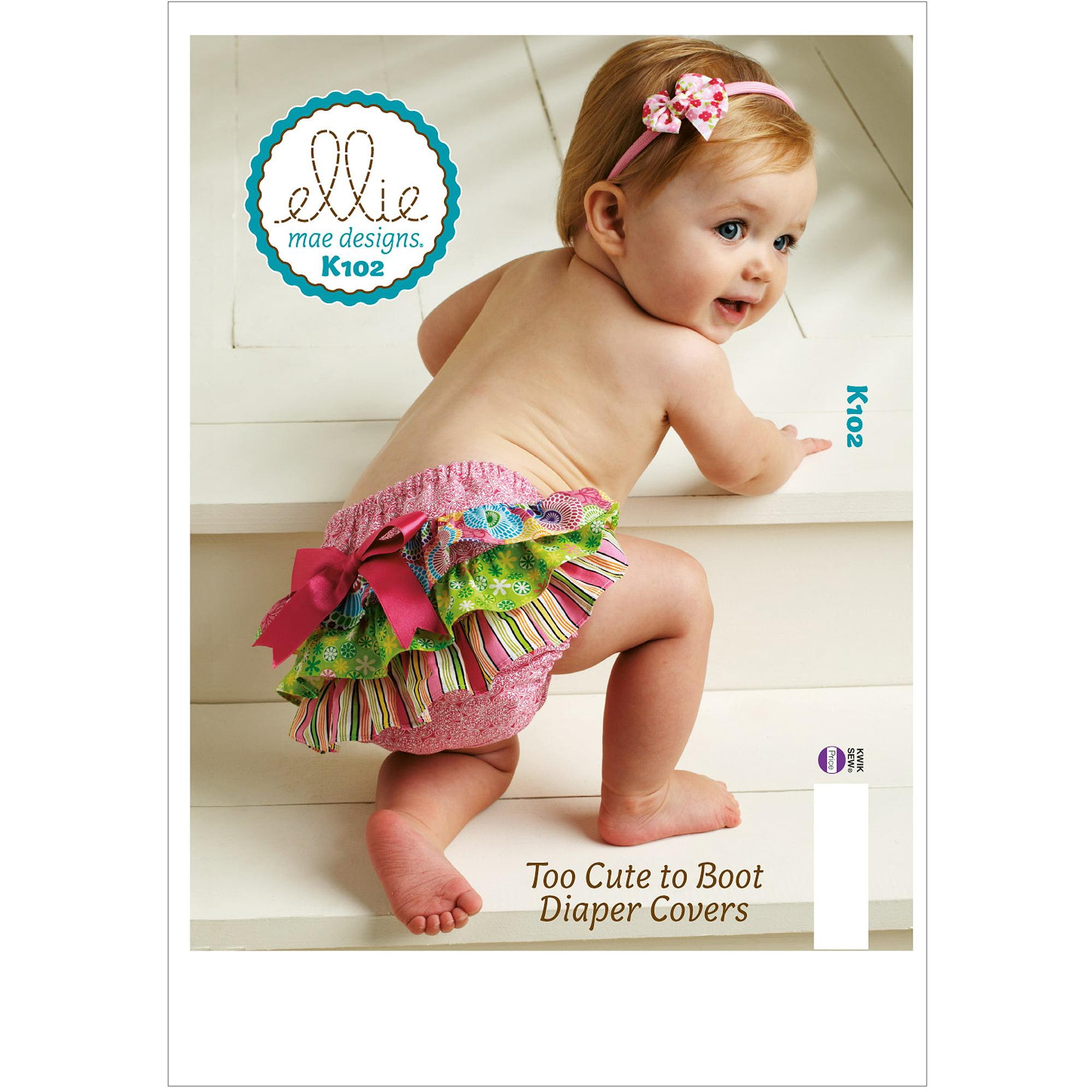 Kwik Sew Pattern Too Cute to Boot Diaper Covers, (XS, S, M, L, XL)