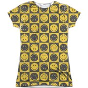 Smiley  Checkerboard Smiley  Girls Jr Sublimation White