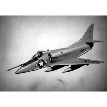 LAMINATED POSTER Drawing of the proposed Douglas A4D-3 Skyhawk. The A4D-3 was a 1957 proposal for an all-weather atta Poster Print 24 x