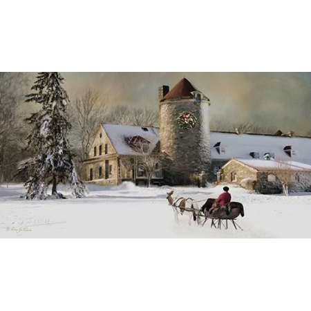 One Horse Open Sleigh Poster Print By Robin Lee Vieira 30 X 16