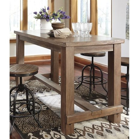 Ashley pinnadel rectangular counter height dining table in for Meuble ashley circulaire