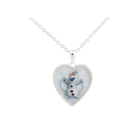 Disney Piglet Jewelry - Disney's Frozen Silver Tone Olaf Heart Pendant Necklace. GIFT BOX