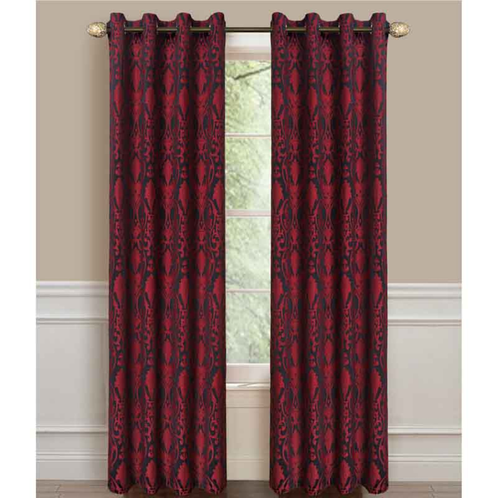 Dainty Home La Vista Room Darkening Window Curtain Panel
