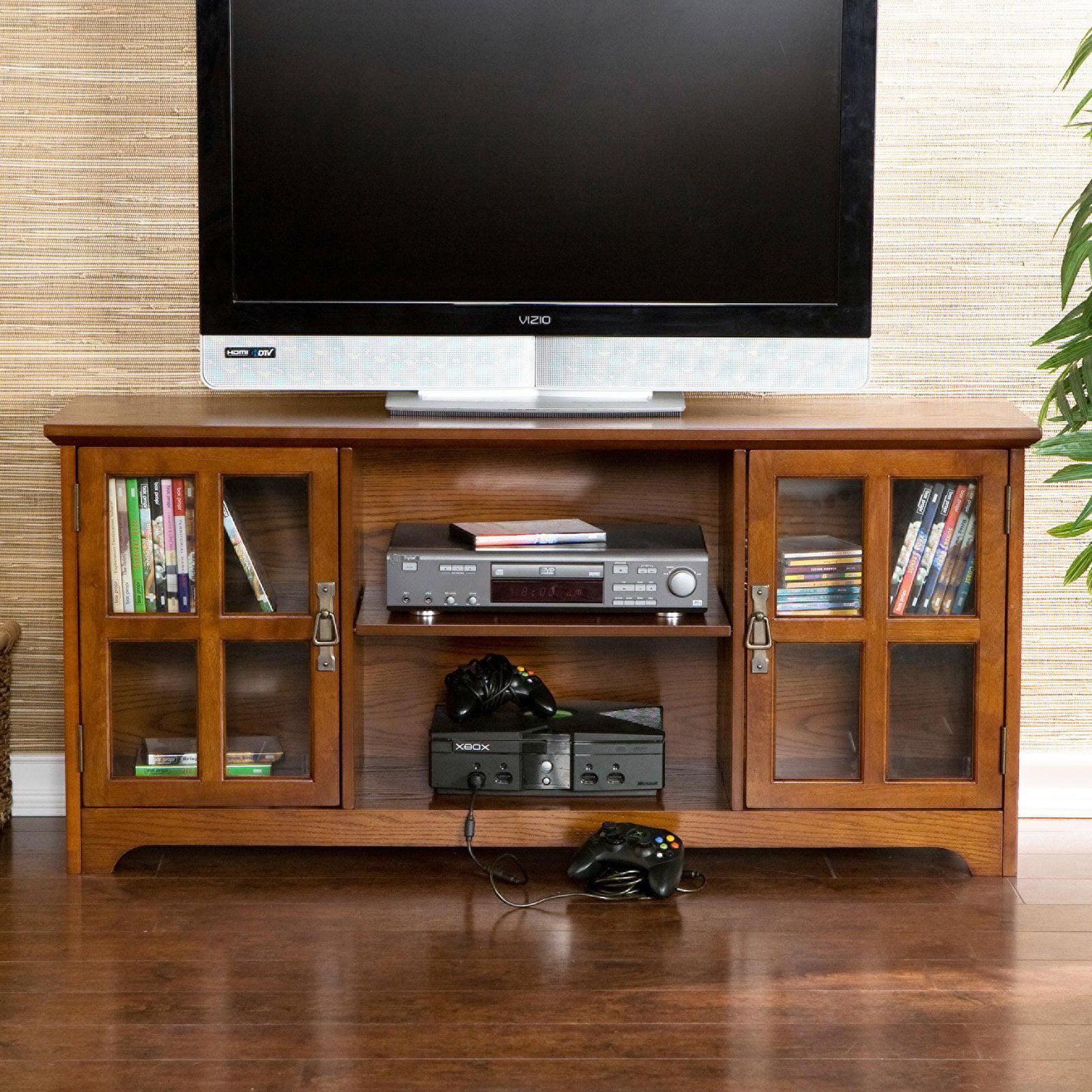 "Southern Enterprises Bearden Oak Media Stand, for TVs up to 50"""