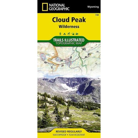National Geographic Trails Illustrated Map Cloud Peak Wilderness  Wyoming